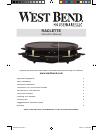 West Bend Fondue Maker