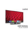 Vizio E280i-A1 Operation & user's manual
