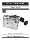 Elenco Electronics AK-200 Assembly And Instruction Manual 20 pages