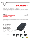 VOLTCRAFT AD-50 Datasheet 2 pages