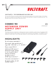 VOLTCRAFT COMBO 90 Datasheet 2 pages