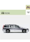 Volvo V70 Pricing and specification manual