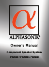 Alphasonik COMPONENT SPEAKER SYSTEM PCZ50E Owner's Manual 16 pages