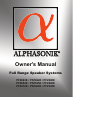 Alphasonik PFZ325E Owner's Manual 16 pages