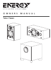 Energy 5.1 Take Classic Owner's Manual 32 pages