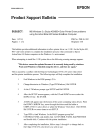 Epson ActionNote 650 Product Support Bulletin 2 pages