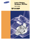 Samsung SF-5100P Operation & User's Manual 108 pages