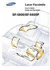 Samsung SF-5800 User's Manual Setup And Operation 99 pages