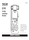 Teac GT-R1 Owner's Manual 112 pages