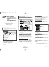 Samsung CS-21T20MA Owner's Instructions Manual 8 pages
