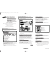 Samsung CS29K10 Owner's Instructions Manual 8 pages