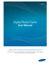 Samsung SPF-107H - Touch of Color Digital Photo Frame Operation & User's Manual 51 pages