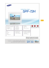 Samsung SPF-72H Manual Del Usuario 26 pages