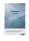 Samsung UD55A Operation & User's Manual 148 pages