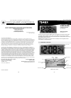 Timex 75071 Operation & User's Manual 2 pages