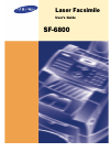 Samsung SF-6800 Operation & User's Manual 106 pages