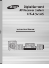 Samsung HTAS720 Instruction Manual 52 pages