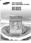 Samsung MAX-KDZ100 Instruction Manual 38 pages