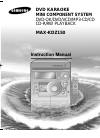 Samsung MAX-KDZ150 Instruction Manual 40 pages