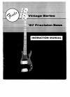 Fender Precision Bass Instruction manual