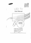 Samsung Series 4000 Operation & user's manual