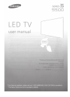 Samsung Hospitality tv 5500 Operation & user's manual