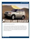 Toyota 2000 LAND CRUISE