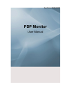 Samsung P63FP Operation & User's Manual 121 pages
