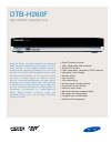 Samsung DTB-H260F - HDTV Terrestrial Receiver Specification Sheet 2 pages