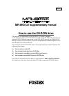 Fostex MR-8HD/CD