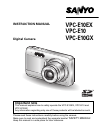 Sanyo VPC E1 - Xacti Camcorder - 6.0 MP