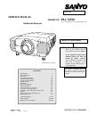 Sanyo PLC-XF45