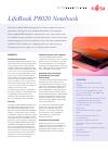 Fujitsu P8020 - LifeBook - Core 2 Duo 1.4 GHz Specification sheet