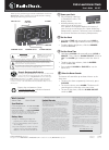 Radio Shack 63-117 Operation & User's Manual 1 pages