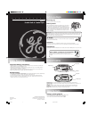GE 3-5818 Owner's Manual 2 pages