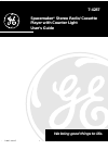 GE 7-4287 Operation & User's Manual 10 pages