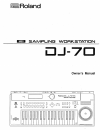 Roland DJ-70 Owner's Manual 160 pages