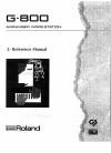 Roland G-800 Reference Manual 124 pages