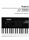 Roland JV-1000 Introductory Manual 106 pages
