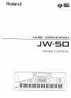 Roland JW-50 Owner's Manual 260 pages