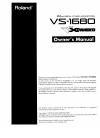 Roland VS-1680 Owner's Manual 46 pages