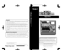Roland VS-2480 Supplementary Manual 132 pages