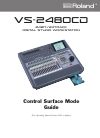 Roland VS-2480CD Control Surface Mode Manual 30 pages