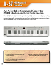 Roland A-37 Features