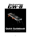 Roland Workstation GW-8 Quick Manualbook 39 pages