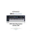 Roland Workstation GW-8 Release Note 32 pages