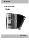 Roland V-ACCORDION FR-7 Owner's manual