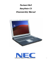 Packard Bell EasyNote C3 Disassembly Manual 22 pages