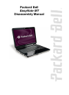 Packard Bell EasyNote MT Disassembly Manual 28 pages