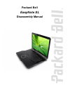Packard Bell EasyNote SL Disassembly Manual 27 pages